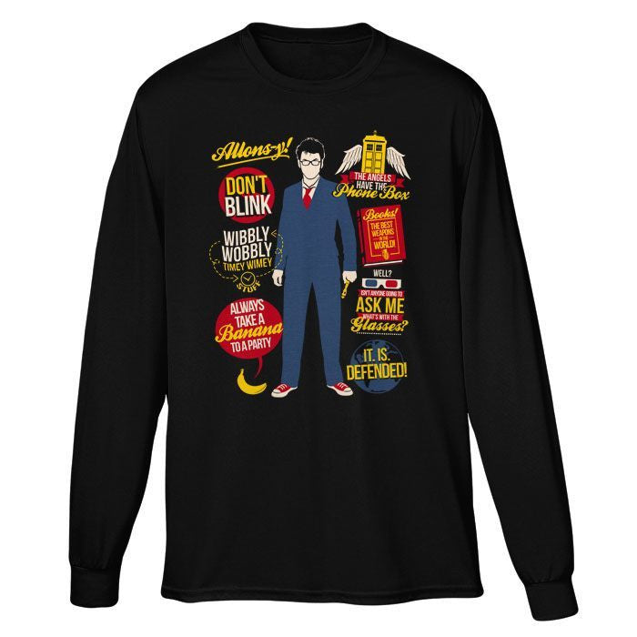 10th Doctor Quotes - Long Sleeve T-Shirt (Unisex)