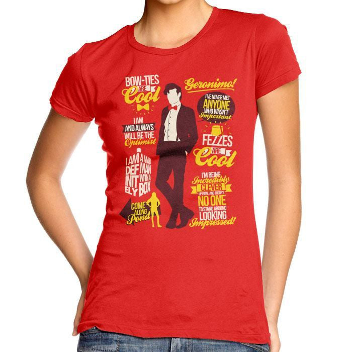11th Doctor Quotes - Women's Fitted T-Shirt