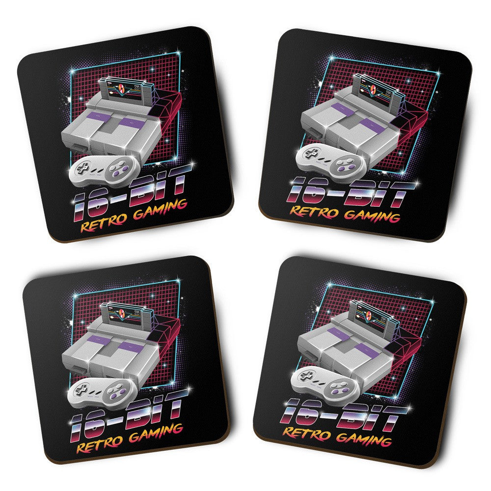 16-Bit Retro Gaming - Coasters