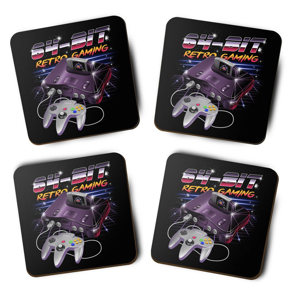 64-Bit Retro Gaming - Coasters