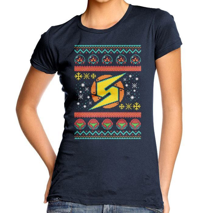 A Metroid Christmas - Women's Fitted T-Shirt