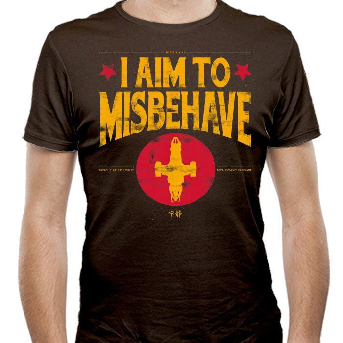 Aim to Misbehave - Men's Fitted T-Shirt