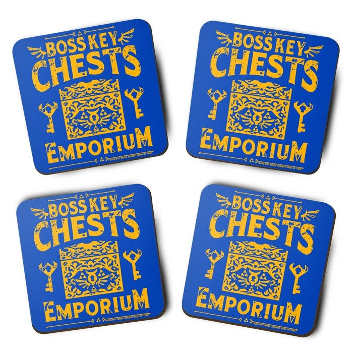 Boss Keys Chest Emporium - Coasters