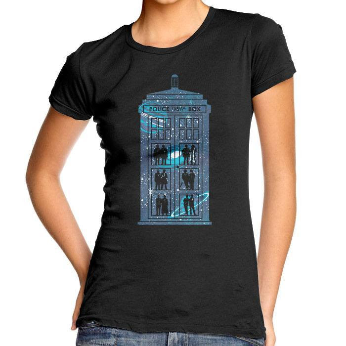 Box of Time and Space - Women's Fitted T-Shirt