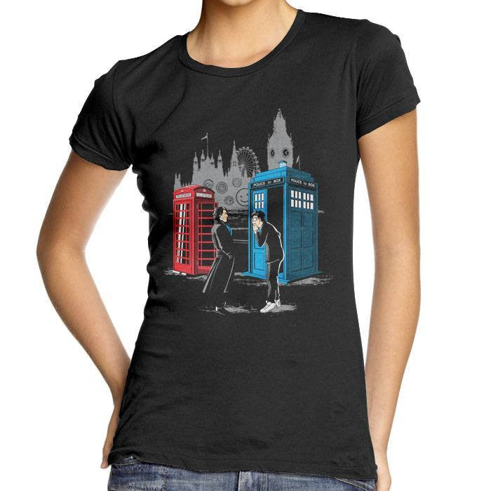Cabins Collide - Women's Fitted T-Shirt