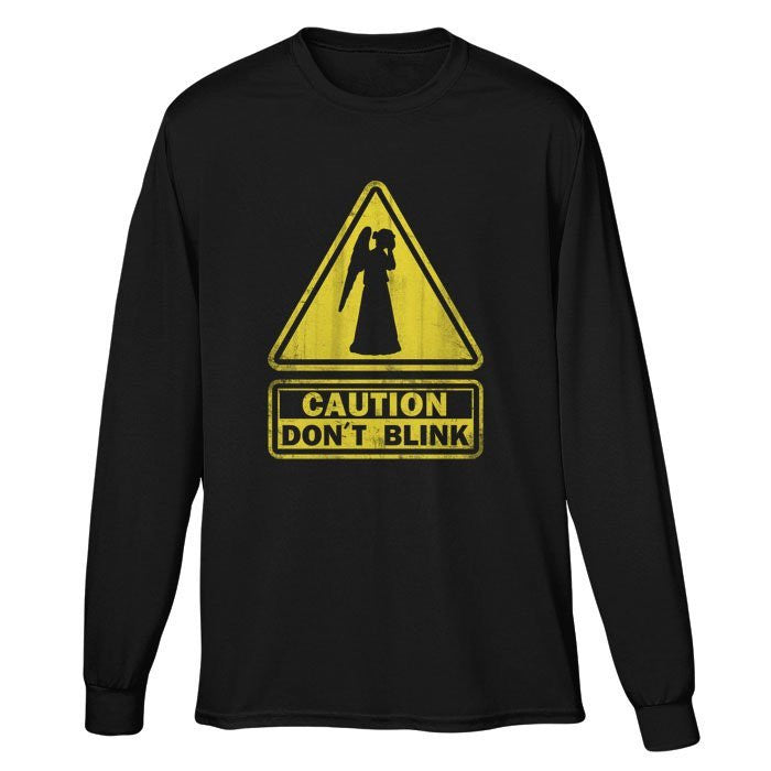 Caution: Don't Blink - Long Sleeve T-Shirt (Unisex)