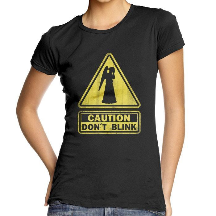 Caution: Don't Blink - Women's Fitted T-Shirt