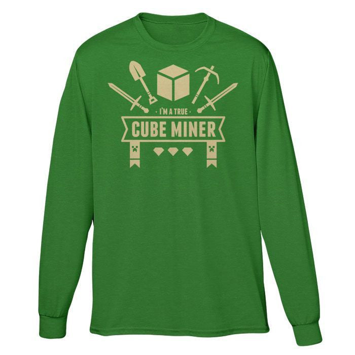 Cube Miner - Long Sleeve T-Shirt (Unisex)