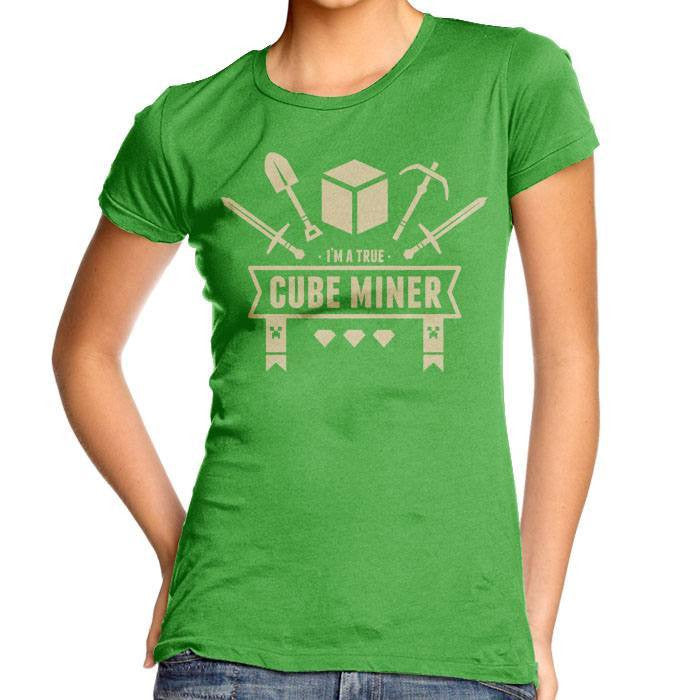 Cube Miner - Women's Fitted T-Shirt