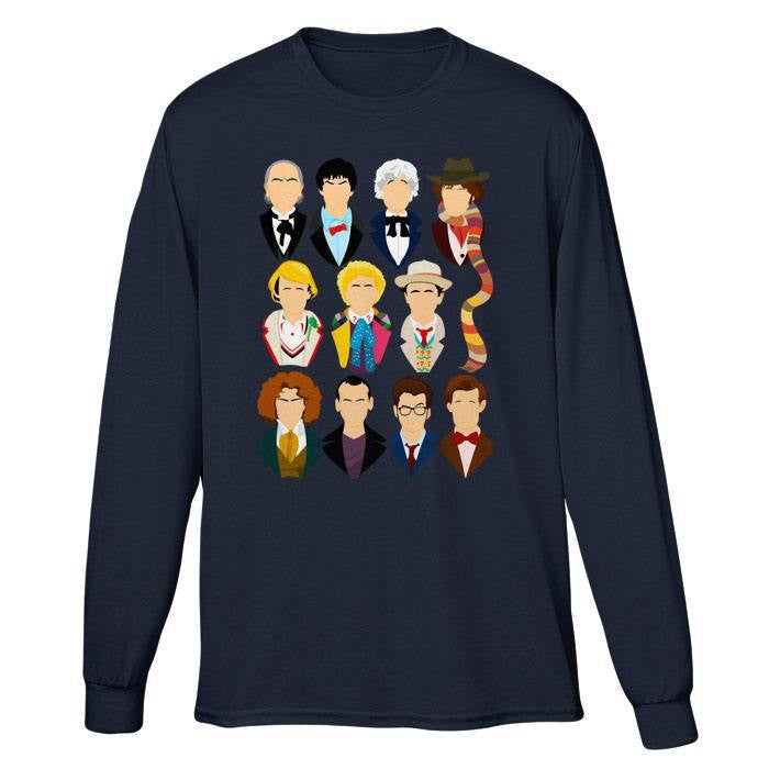 Eleven Doctors - Long Sleeve T-Shirt (Unisex)