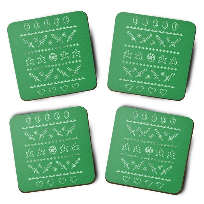Festive Gaming Sweater - Coasters
