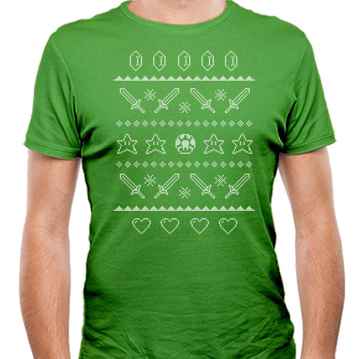 Festive Gaming Sweater - Men's Fitted T-Shirt