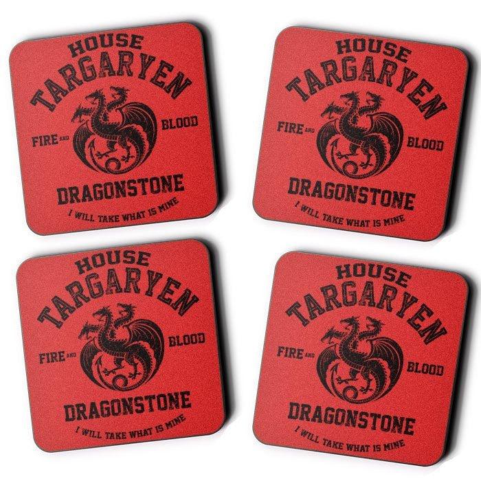 Fire and Blood (Black) - Coasters
