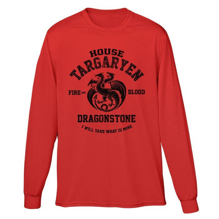 Fire and Blood (Black) - Long Sleeve T-Shirt (Unisex)