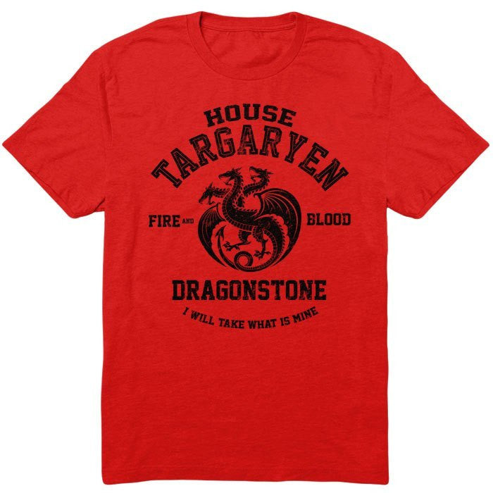 Fire and Blood (Black) - Men's T-Shirt