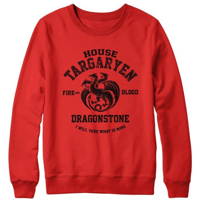 Fire and Blood (Black) - Sweatshirt