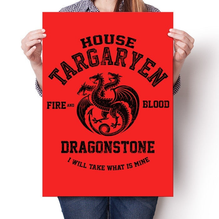 Fire and Blood (Black) - Poster