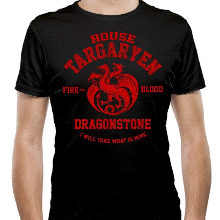 Fire and Blood - Men's Fitted T-Shirt