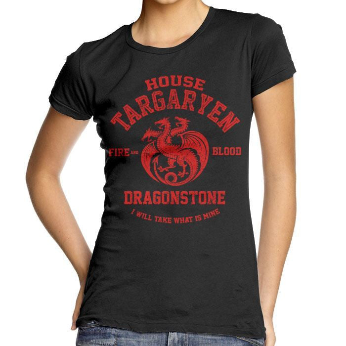 Fire and Blood - Women's Fitted T-Shirt
