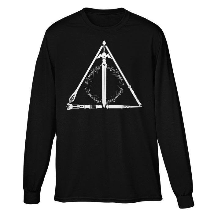Geeky Hallows - Long Sleeve T-Shirt (Unisex)