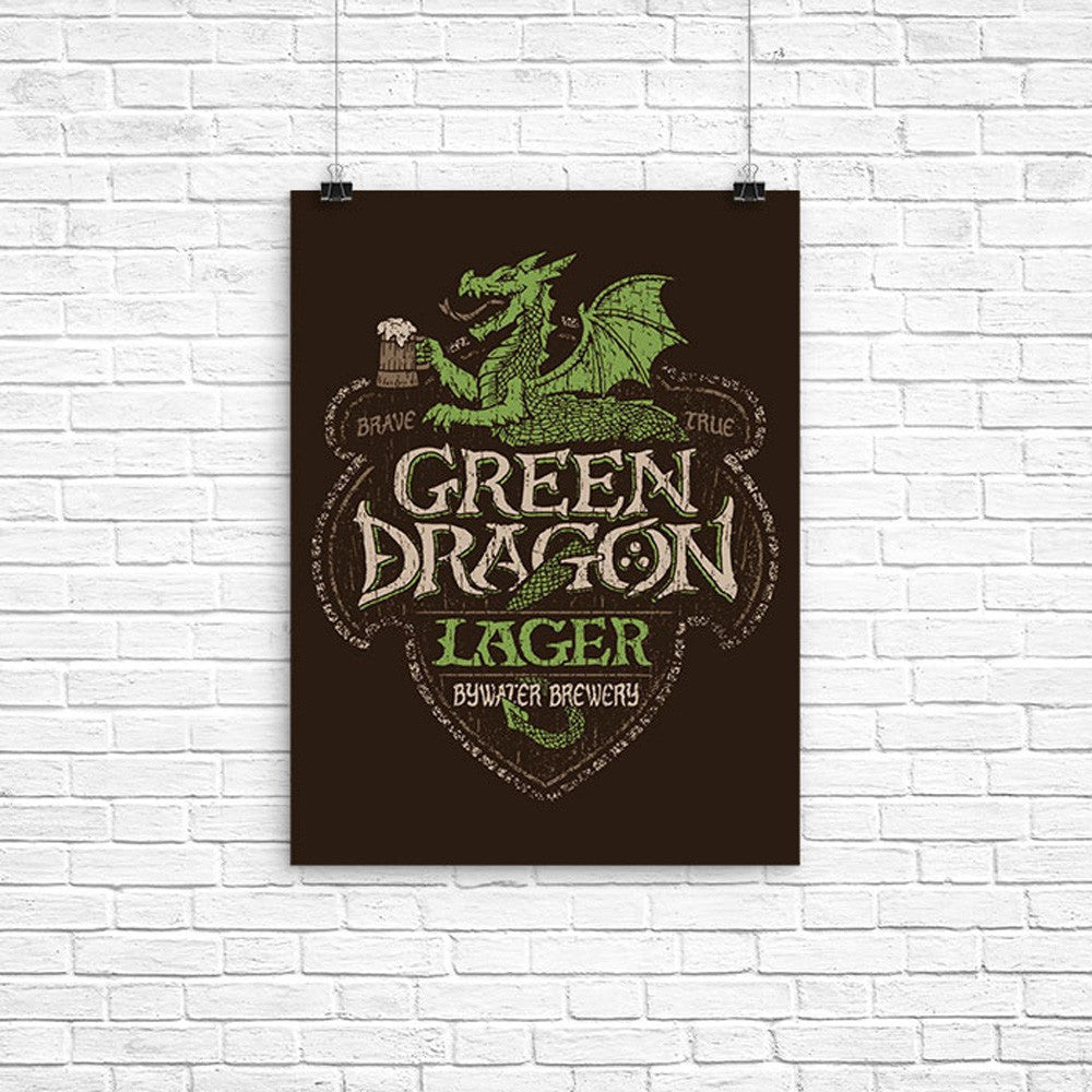 Green Dragon Lager - Poster