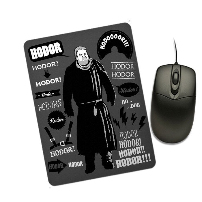 Hodor Famous Quotes - Mousepad