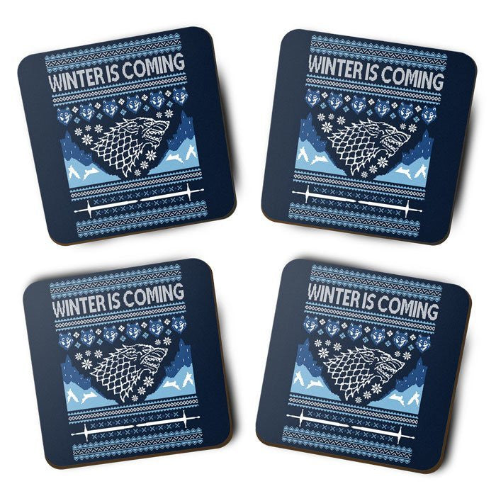 Hoildays are Coming (Blue) - Coasters