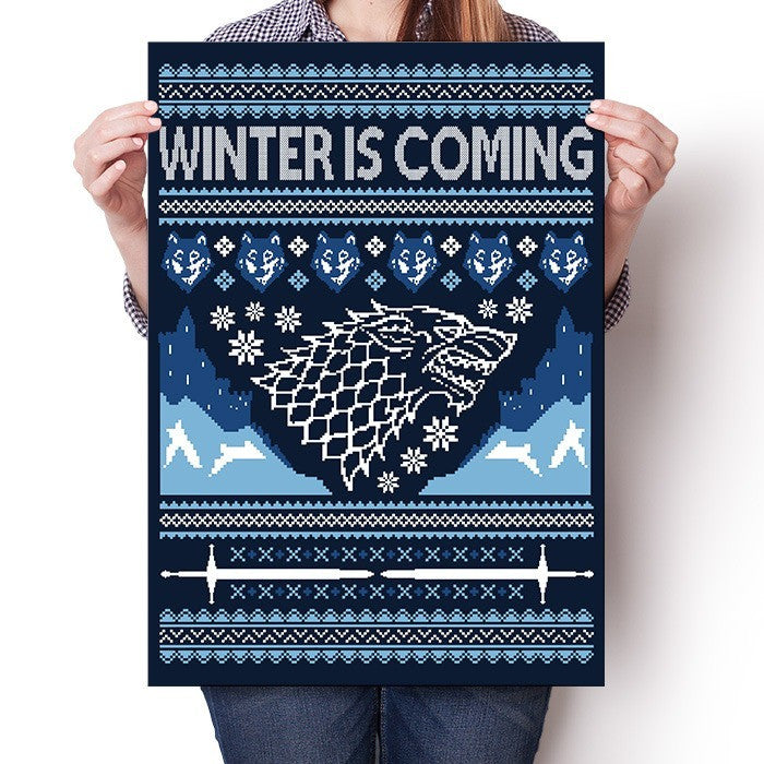 Hoildays are Coming (Blue) - Poster