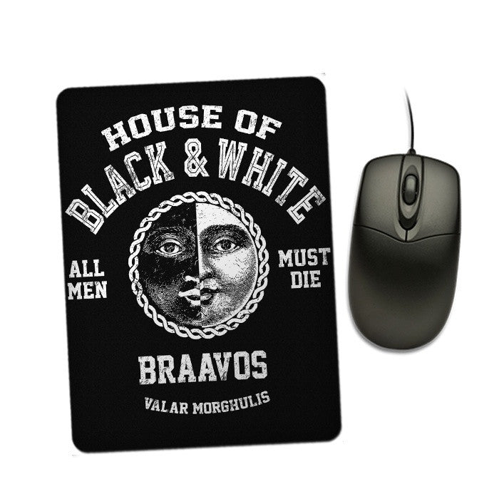 House of Black and White - Mousepad