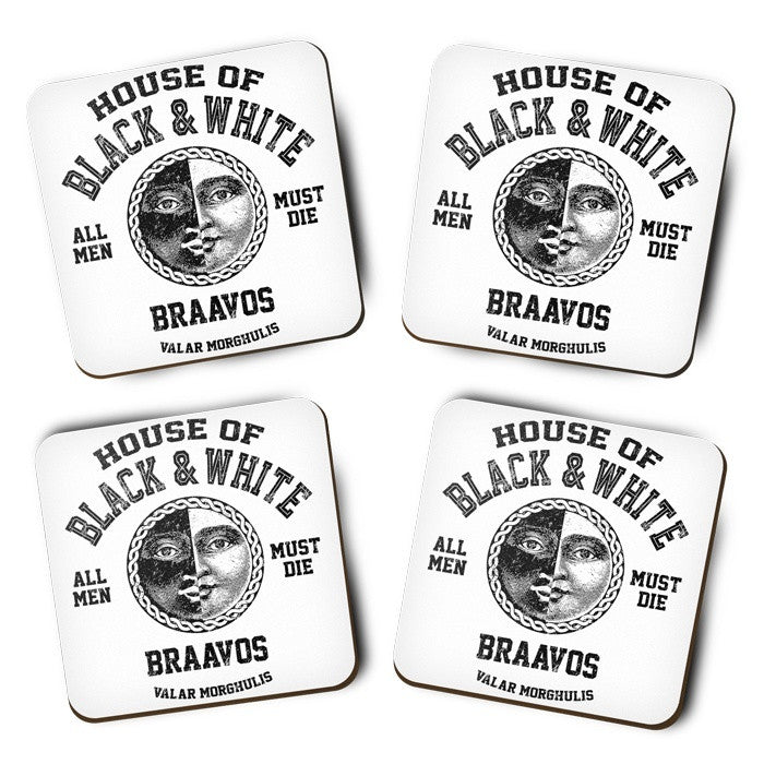 House of Black and White (Black) - Coasters