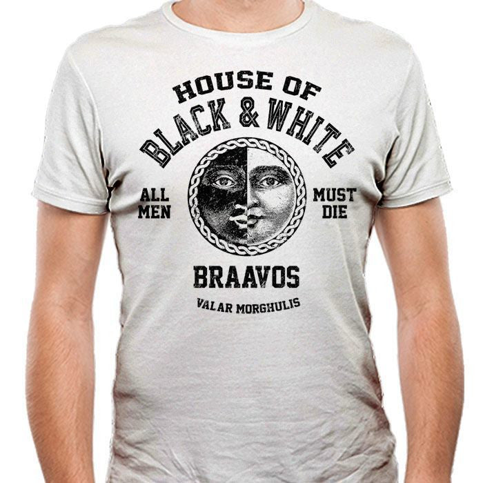 House of Black and White (Black) - Men's Fitted T-Shirt