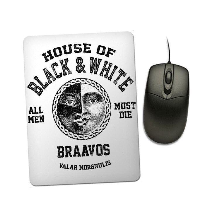 House of Black and White (Black) - Mousepad