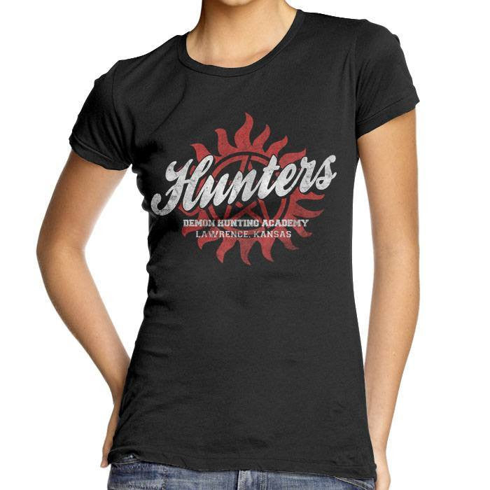 Hunter's Academy - Women's Fitted T-Shirt