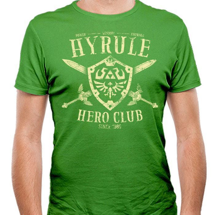 Hyrule Hero Club - Men's Fitted T-Shirt