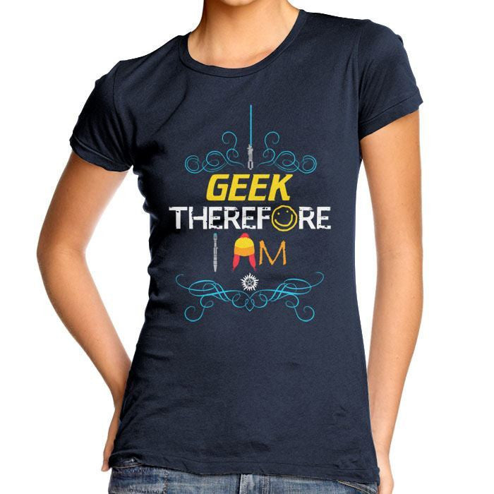 I Geek Too - Women's Fitted T-Shirt