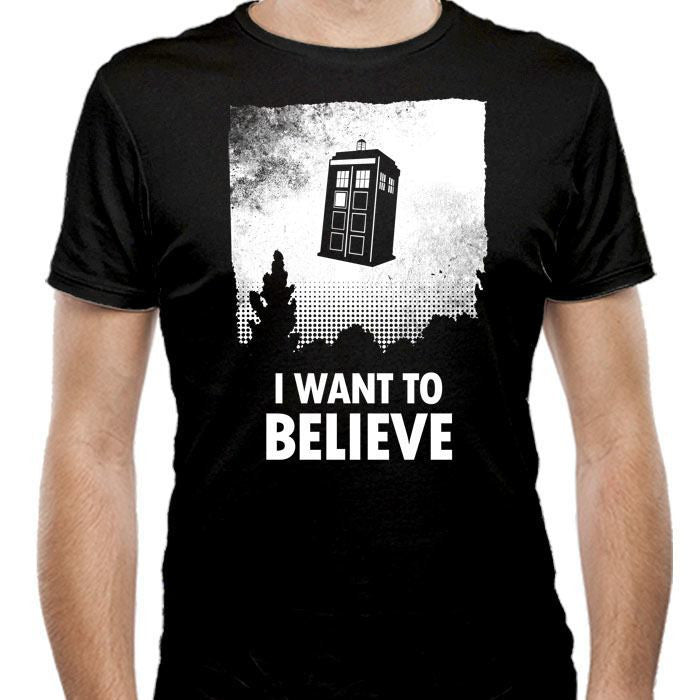 I Want to Believe - Men's Fitted T-Shirt