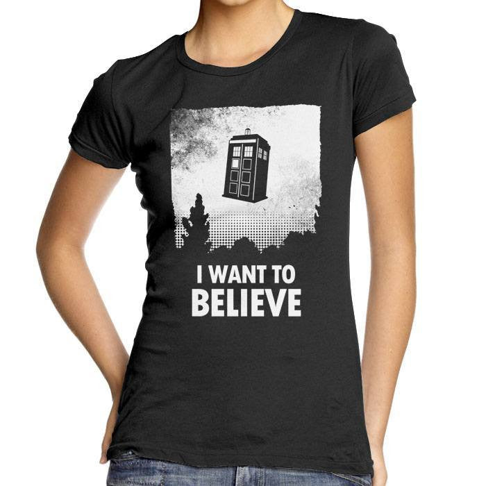 I Want to Believe - Women's Fitted T-Shirt