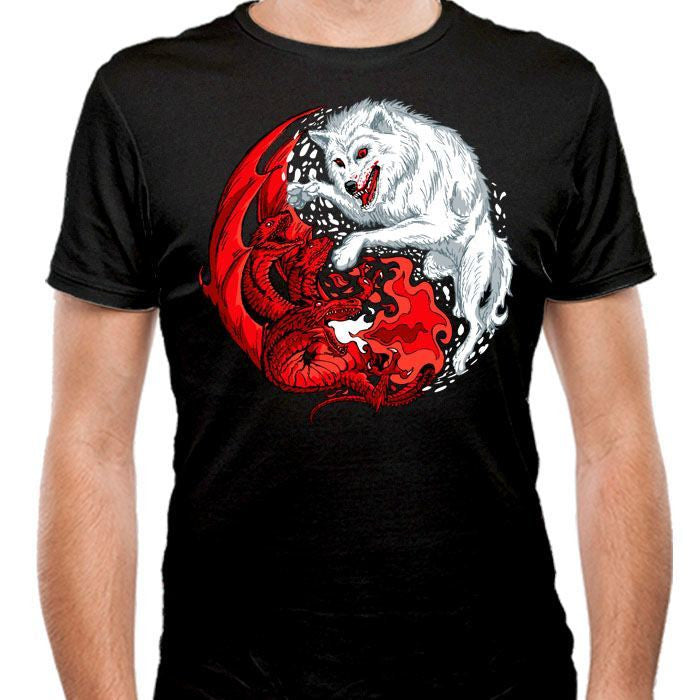 Ice and Fire - Men's Fitted T-Shirt
