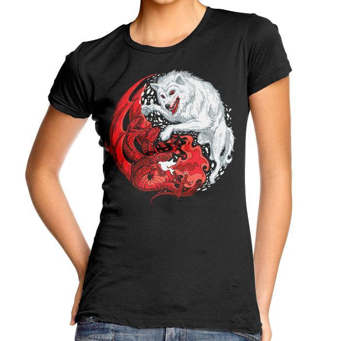 Ice and Fire - Women's Fitted T-Shirt