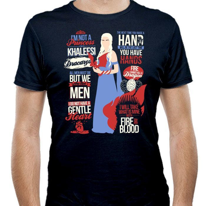 Khaleesi Quotes - Men's Fitted T-Shirt