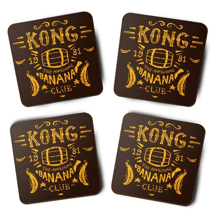 Kong Banana Club - Coasters