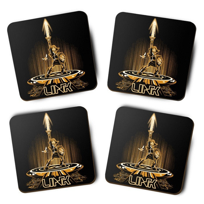 Linktron (Gold) - Coasters
