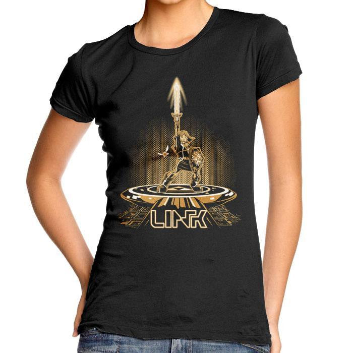 Linktron (Gold) - Women's Fitted T-Shirt