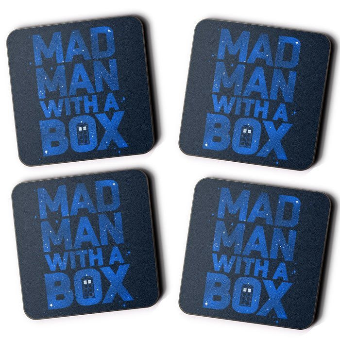 Mad Man With a Box - Coasters