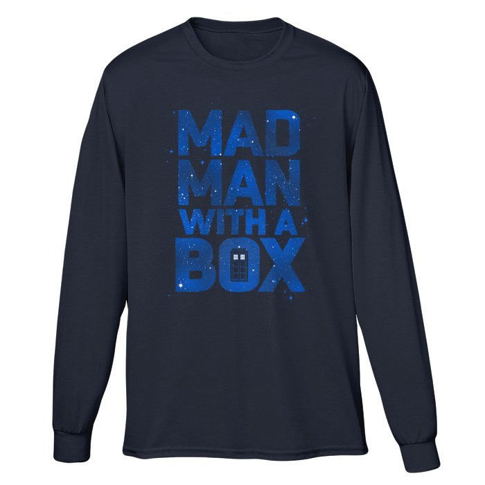 Mad Man With a Box - Long Sleeve T-Shirt (Unisex)