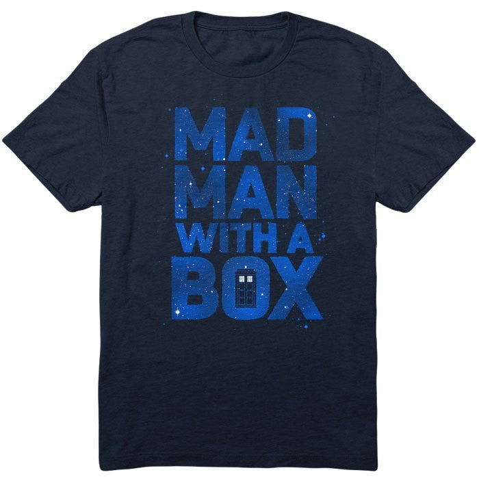 Mad Man With a Box - Men's T-Shirt