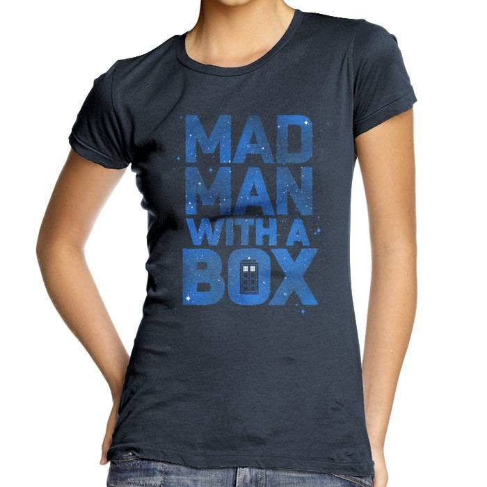 Mad Man With a Box - Women's Fitted T-Shirt