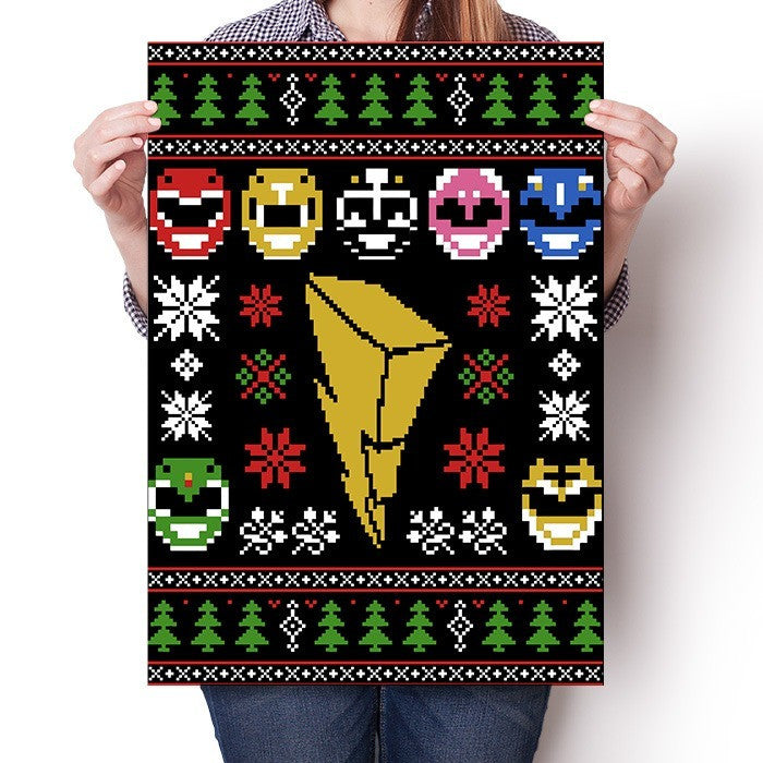Mighty Morphin' Sweater - Poster