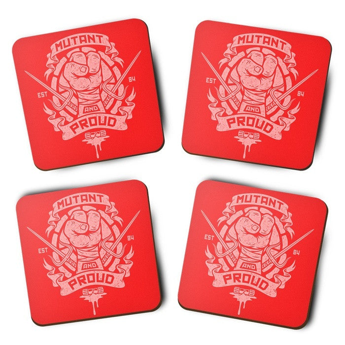 Mutant and Proud - Raph - Coasters