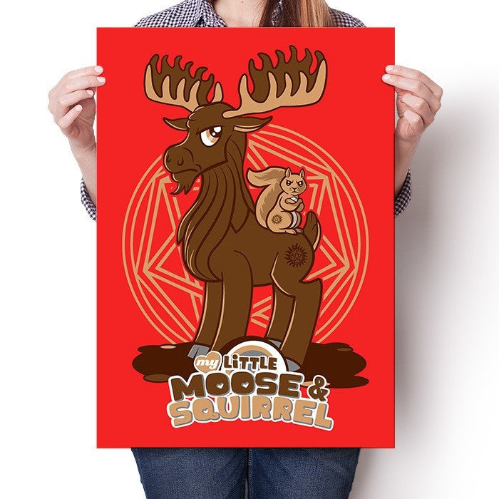 My Little Moose and Squirrel - Poster